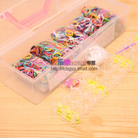 韩国rainbow热销编织手链手绳彩虹编织橡皮筋DIY手工手链(中号)
