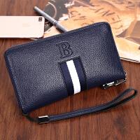 新款男士钱包男女通用手包带密码锁钱包女士钱包带锁包日韩包TI定制