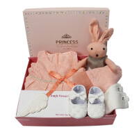 2017新欧式无袖童裙夏 新生儿礼盒套装 婴儿服饰套装礼盒