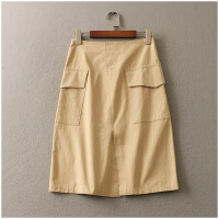 夏季新款纯色高腰显瘦包臀半身裙女短裙 24125