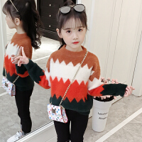 儿童2018新款冬季针织衫宝宝毛衣韩版打底衫休闲女孩外套