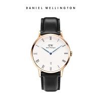 【赠送同款表带】DanielWellington丹尼尔惠灵顿DW手表38mm蓝针日历皮带石英男表
