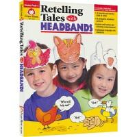 【首页抢券300-100】Retelling Tales with Headbands 复述故事手工活动册艺术涵养英文口