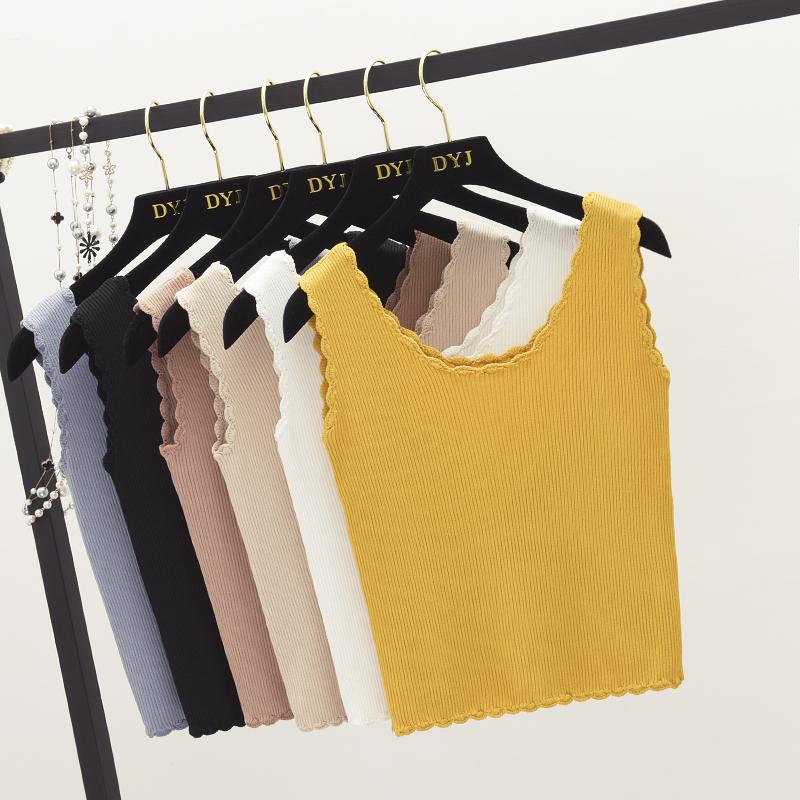 2018春装新款韩版修身纯色针织吊带背心女百搭显瘦无袖打底衫上衣