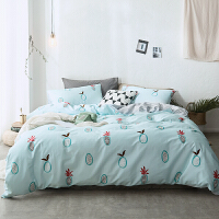 棉小清新床上三四件套 ins风卡通棉被套床单床笠4件套床品