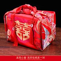 婚嫁用品包袱 结婚用红包袱女方新娘陪嫁嫁妆红色婚庆用品包裹布包袱皮娘家大号