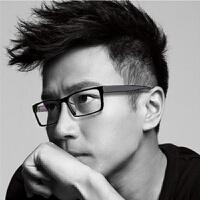 眼镜框男款全框黑色镜架超轻TR90眼镜时尚方正配眼镜大脸商务