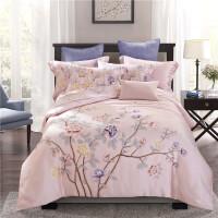 家纺天丝四件套 40s双面天丝套件床上用品 2.0m床 被套2.2mX2.4m