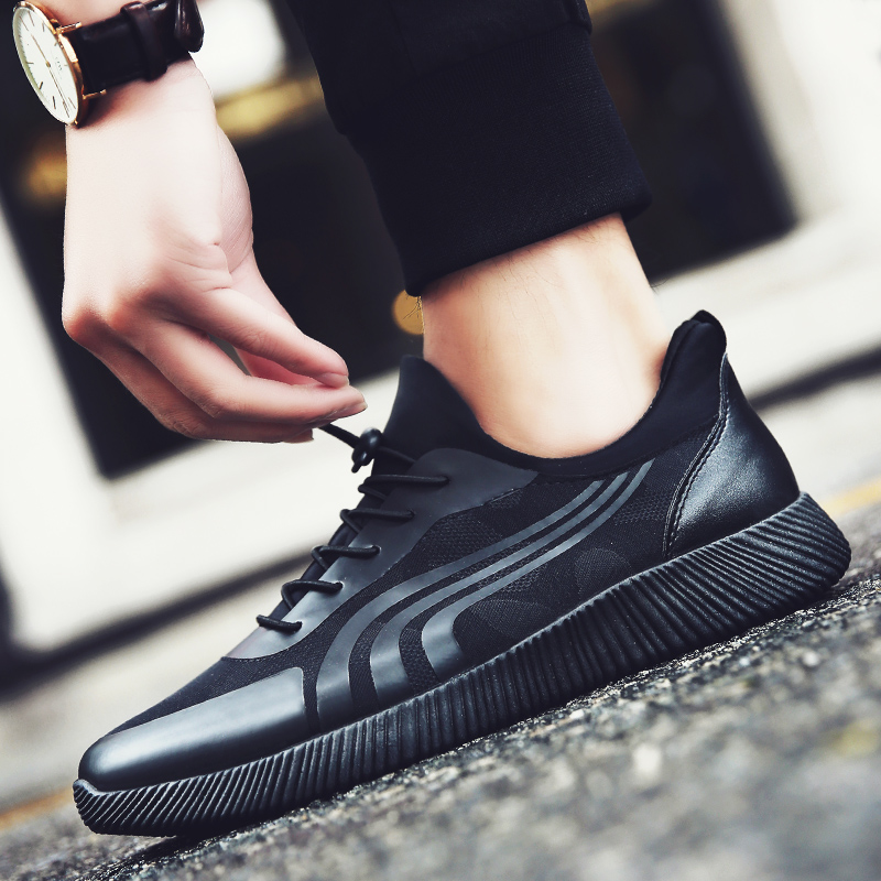 Mr.zuo2017春秋季休闲男鞋韩版低帮潮流运动鞋透气板鞋时尚青年鞋跑步鞋