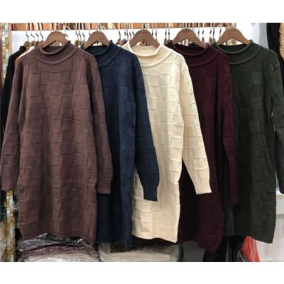 M8半高领毛衣女秋冬韩版宽松中长款针织衫格子打底衫学生加厚0.55 发货周期:一般在付款后2-90天左右发货,具体发货时间请以与客服协商的时间为准