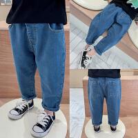 男童牛仔裤春装2020新气儿童裤子宽松男宝宝长裤