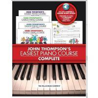 【现货】英文原版 约翰・汤普森简易钢琴教程:1-4册套装(书+Audio)John Thompson's Easies