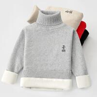 儿童毛衣男童高领秋冬款女童套头针织衫中大童保暖打底衫