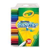 儿童节礼物益智玩具Crayola绘儿乐 可水洗细杆水彩笔学生画笔涂鸦开学幼儿文具 男孩女孩 20色 58-81060(