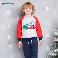 歌瑞家童装男童套头卫衣2017冬装新款中大童男宝宝长袖上衣 乐友