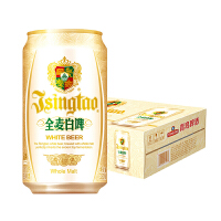 青岛啤酒白啤11度330*24罐啤