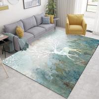 北欧客厅地毯沙发茶几垫卧室满铺床边毯简约现代蓝色几何图案定制SN4284 T-1 (新品上市)