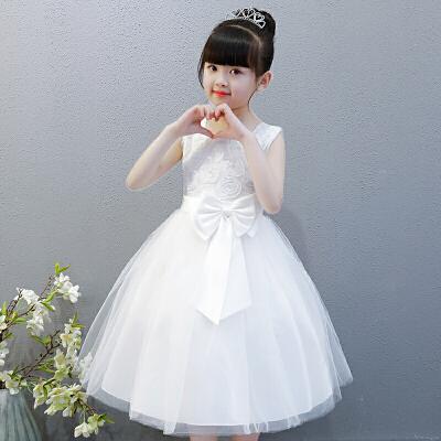 女童公主裙2019新款夏装表演礼服蓬蓬纱裙儿童连衣裙童装