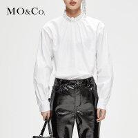 【到手价:429,全场直降叠加满减,11.19 - 11.22】MOCO冬季新品复古宫廷木耳领衬衫MA184TOP11