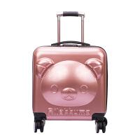 拉杆箱 男女儿童漆面防水万向轮拉杆箱2020年新款可爱卡通小熊儿童登机箱