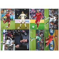 皇马c罗梅西内马尔贝克汉姆本泽马卡卡足球海报墙贴一套8张