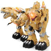 变形恐龙玩具仿真霸王龙变身电动遥控智能机械机器人行走益智男生