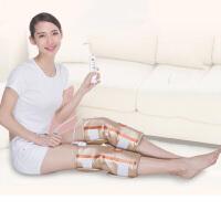 电热护膝老寒腿中老年人关节膝盖腿部按摩器艾灸热疗仪 黄色 T680 Plus(护膝一对装)