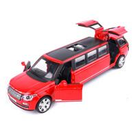 汽车模型合金仿真男孩合金回力小汽车玩具儿童玩具车模型 加长路虎 红色 盒装