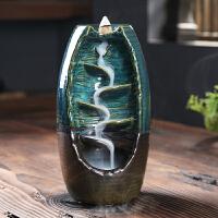 倒流香炉家用室内陶瓷檀香香薰炉新款香插香道熏香炉大号创意摆件