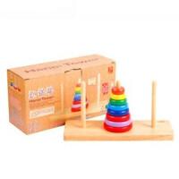 丹妮奇特 汉诺塔木制玩具儿童早教宝宝叠叠乐拼插积木 5258