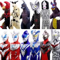 正版日本万代奥特曼超人银河赛罗迪迦泰罗变身器软胶人偶怪兽玩具