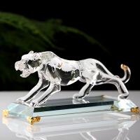 个性现代家居摆设品装饰品 水晶金钱豹子 创意摆件工艺品