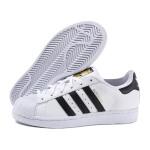 adidas阿迪达斯三叶草2019春季新款男鞋女鞋贝壳头小白鞋运动板鞋C77124
