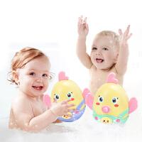 宝宝不倒翁玩具可咬牙胶摇铃0-1岁男孩6-12个月93