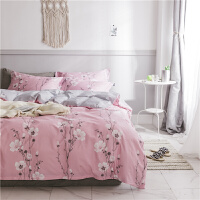 网红棉卡通动物床上四件套棉简约可爱床单被套三件套床上用品