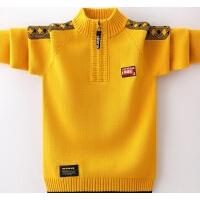 男童毛衣套头秋冬款儿童男孩针织衫立领中大童毛衣