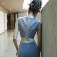 背心式瑜伽内衣美背收副乳防震高支撑运动健身文胸带胸垫瑜伽背心