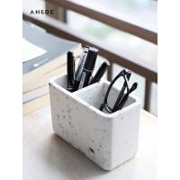 AHDE可爱ins笔筒创意时尚韩国小清新笔筒北欧仿大理石桌面收纳