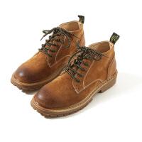衣柜男装秋冬日系做旧男士靴子马丁靴英伦高帮复古休闲工装靴