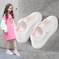 童鞋女童小白鞋2020春款新款白鞋儿童运动鞋子