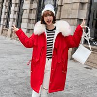 【年货节 直降到底】棉衣棉服少女冬季2020新款中学生韩版宽松中长款派克服羊羔毛外套