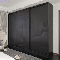 衣帽间橱柜2门3门钢琴烤漆移门衣柜简约现代木质板式家具