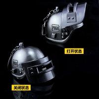 绝地求生三3级背包吃鸡游戏平底锅枪头盔合金武器套装玩具