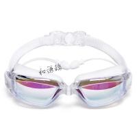 泳镜高清防水防雾带耳塞男女通用大框游泳镜专业游泳眼镜女士