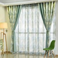 美式窗帘成品飘窗简约现代田园卧室落地窗遮光窗帘布客厅平面窗纱