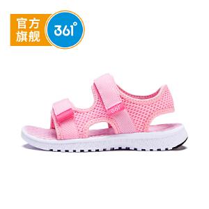 【下单立减2折价:43.8】361度 女童沙滩凉鞋 夏季新款N81822662