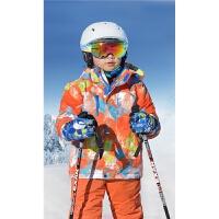 户外儿童滑雪服 防风防水加厚保暖户外雪乡男女童滑雪服