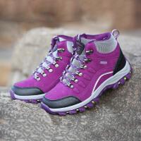户外高帮运动鞋鞋女鞋登山鞋女单鞋防水防滑休闲徒步鞋大码女鞋
