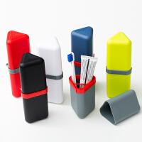 男女便携式有盖旅行出游带盖牙刷杯便携牙刷收纳盒旅游洗漱杯套装