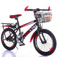 儿童自行车7-8-9-0--2-3岁童车男女20寸小学生单车山地变速 18寸黑红色 标配-单速 其它